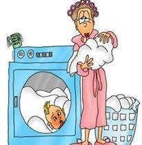 mama beba veš mom baby laundry funny