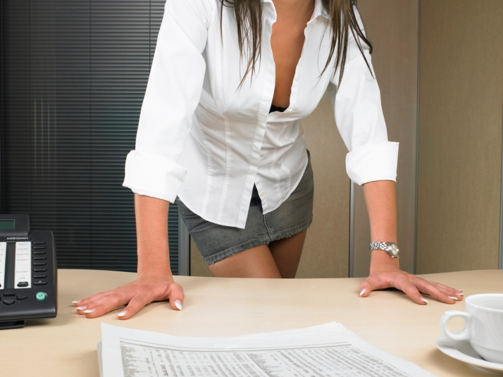 woman, work, dress code, casual, sexy, mini-skirt, office, casual, white shirt, denim, professional