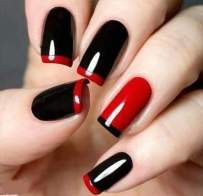 red black manicure
