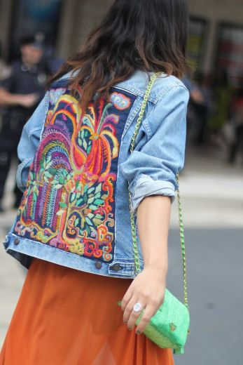 floral denim jacket