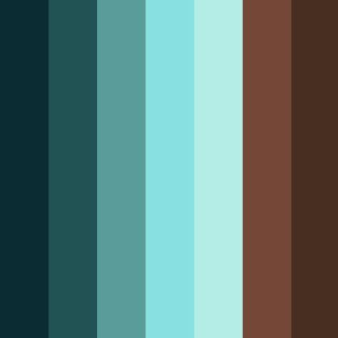 blue brown palette