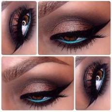blue brown makeup