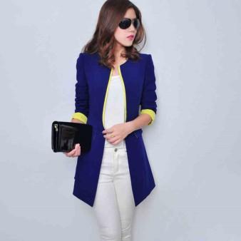 Jaquetas-feminina-veste-Femme-Manche-longue-solid-Color-font-b-Long-b-font-font-b-blazer