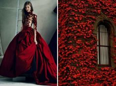 Marchesa-F-W-2012-Red-Leaves