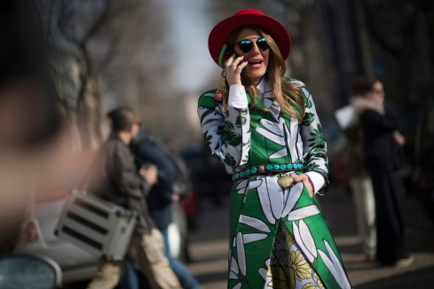 MILAN, ITALY - MARCH 01: Anna Dello Russo in the streets of Milan during the Milan Fashion Week on March 1, 2015 in Milan, Italy. (Photo by Timur Emek/Getty Images)