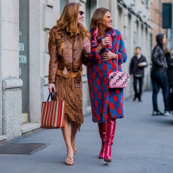 copz5w-l-610x610-coat-tumblr-printed+coat-boots-red+boots-anna+dello+russo-streetstyle-fashionista-midi+skirt-mustard-fringes-fringe+skirt-leather+jacket-jacket-brown+jacket-bag-printed+